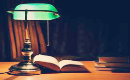 Vintage library lamp