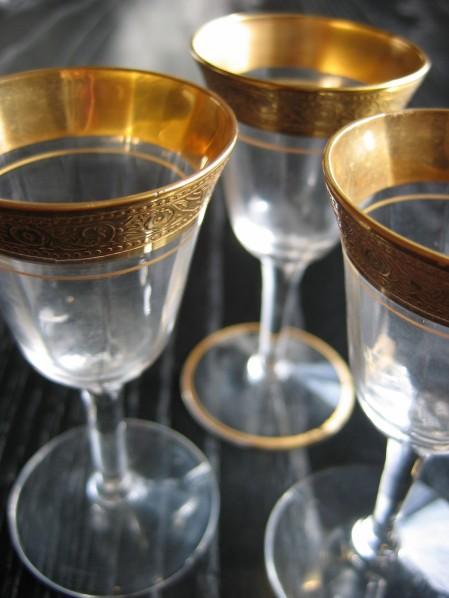 Vintage champagne flutes