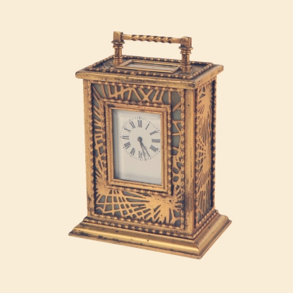 Tiffany Studios Pine Needle Pattern Carriage Clock