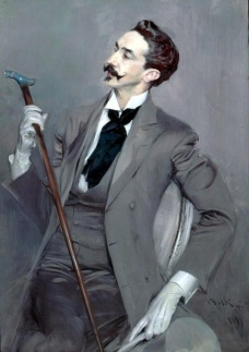 Count Robert de Montesquiou by Giovanni Boldini
