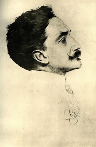 Paul-César Helleu « Portrait du Comte Robert de Montesquiou