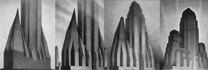 The Four Stages by Hugh Ferriss