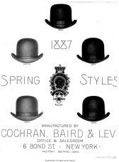 Gentlemen's hats, 1887
