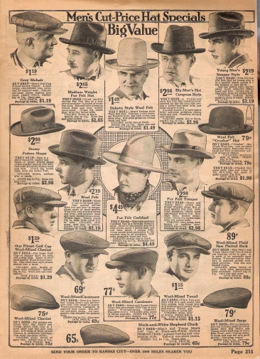 ads for mens hat