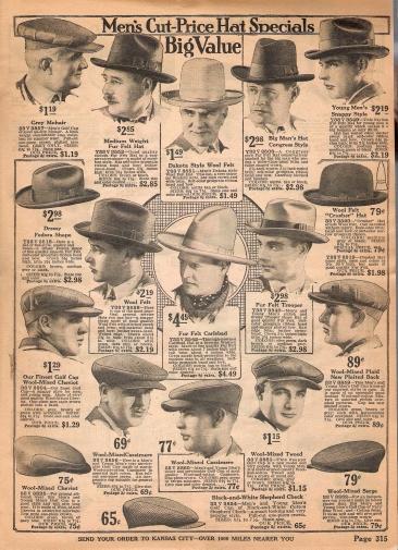 ads for mens hat