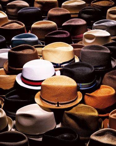 mens hats in window