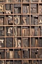 letter press tiles