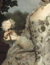 Portrait of Maria Luisa as Princess of Asturias (detail), Anton Raphael Mengs, ca. 1766