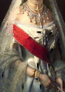 Portrait of Maria Fyodorovna, born Princess Dagmar of Denmark by Ivan Kramskoy, c. 1880 (detail)