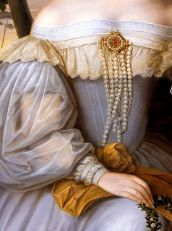Marriage Portrait of Charlotte de Rothschild by Moritz Daniel Oppenheim, 1836 (detail)