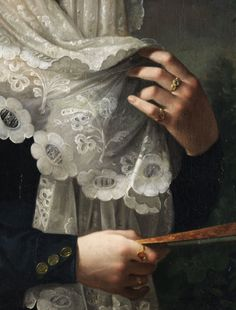 Vicente Lopez y Portaña, Doña Gertrudis de Compte y de Bruga (detail) c.1829-1832