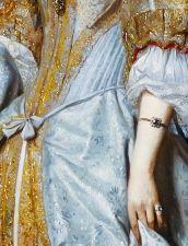 Gabriel Metsu. Detail from Portrait of a Lady, 1667.