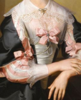 Portrait of Susan, Mrs. Henry Hoare of Stourhead, Detail. 1734 by William Hoare (1707-1792)