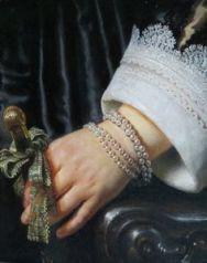 Rembrandt van Rijn , Portrait of Maria Trip (detail), 1639