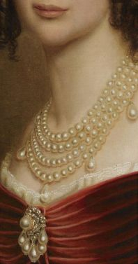 Joseph Karl Stiele, Maria Anna of Bavaria, 1842, detail