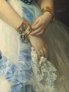 Isabel Álvarez Montes, duquesa de Castro Enríquez and Marquesa de Valderas by Federico de Madrazo y Kunz 1868