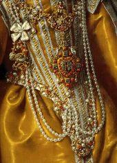 Frans Pourbus II, Portrait of Maria Magdalena of Austria (detail), ca. 1603 (detail)