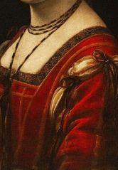 Leonardo da Vinci, Portrait of a Lady at the Court of Milan, 1495, detail