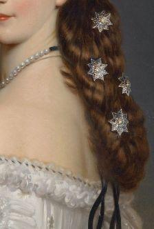 EMPRESS ELISABETH IN COURTLY GALA DRESS WITH DIAMOND STARS (SISSI) - -EMPRESS OF AUSTRIA/ QUEEN OF H - FRANZ XAVER WINTERHALTER 1865
